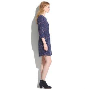 Madewell Birdslife Print Silk Dress